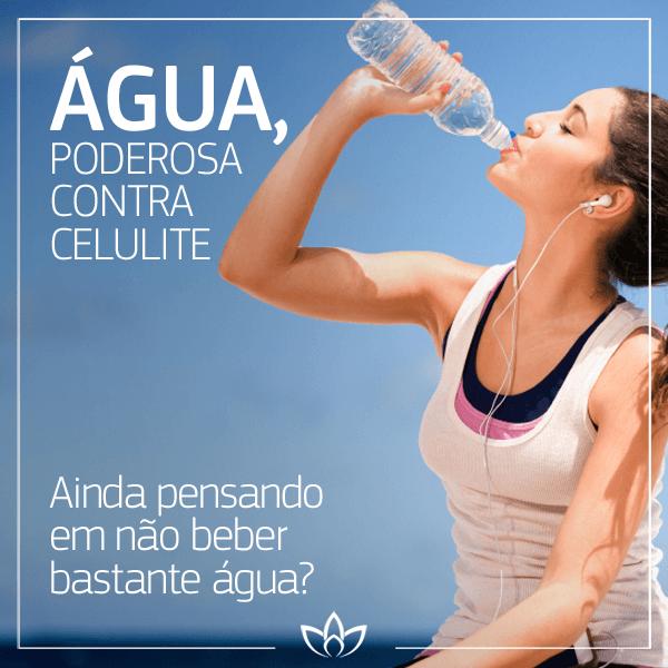 Beber água diminui a celulite