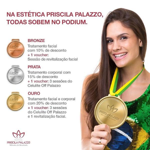 Estética Priscila Palazzo e as Olimpíadas - Vantagens exclusivas